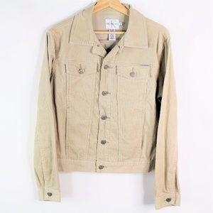 Vintage Calvin Klein Corduroy Denim Jacket Brown